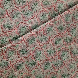 Peacock  Abstract Fabric Material
